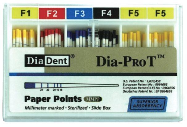 Čepy papírové speciální Dia-ProT - Vel./šíře: F5 DiaDent