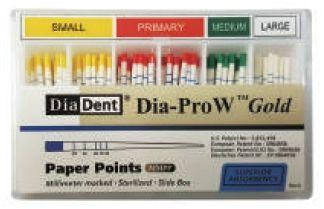 Čepy papírové speciální Dia-ProW Gold DiaDent