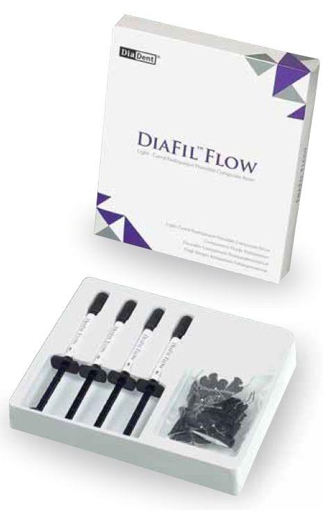 DiaFil Flow - tekutá vytvrzovací restorativní kompozitní pryskyřice - ekonomické balení DiaDent