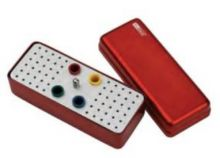 Ukládací endobox Typ B, podlouhlý, střední, kombinovaný - pro ruční a rotační nástroje a GČ a PČ DiaDent