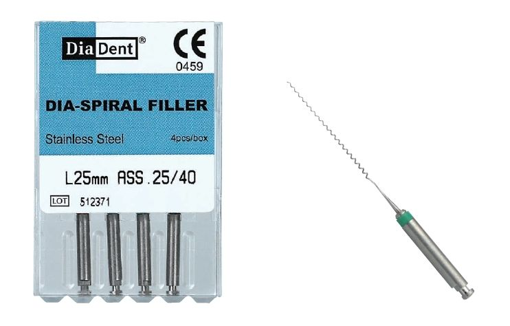 Lentule - Dia-Spiral Filler- rotační soubor - 21 mm -SS- nerez ocel DiaDent