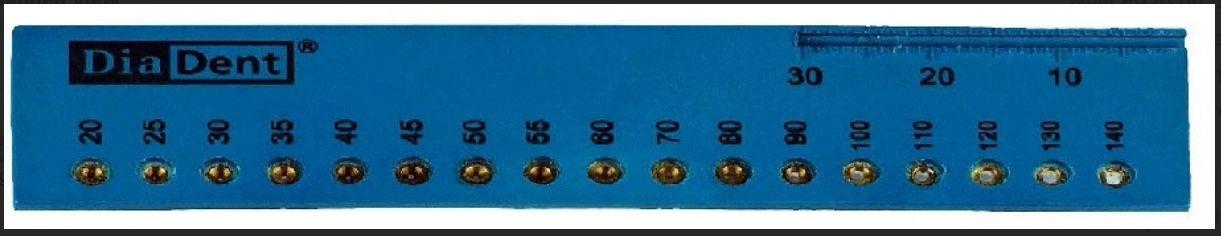 Dia-GP Gauge - měřítko pro gutaperčové čepy DiaDent