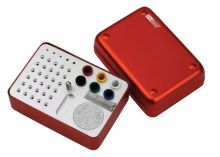 Ukládací endobox, střední, čtvercový, kombinovaný - pro vrtáčky, ruční a rotační nástroje a GČ a PČ DiaDent