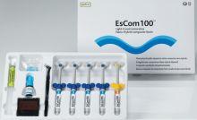 EsCom 100 - nanohybridní, světlem tuhnoucí restorativní kompozitní pryskyřice