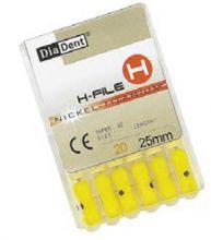 H-Files Niti 25 mm - ručni sada - pilniky - nikl titanové DiaDent