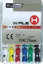 H-Files Niti 25 mm - ručni sada - pilniky - nikl titanové