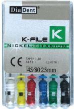 K-Files Niti 25 mm - ruční sada - pilníky - nikl titanové