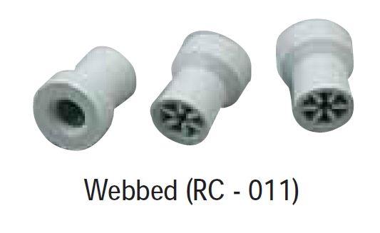 Prophy rubber cup snap-on - profylaktická gumička - nasazovací - webbed DiaDent