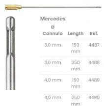Kanyly pro liposukci - Mercedes, 3 laterální otvory