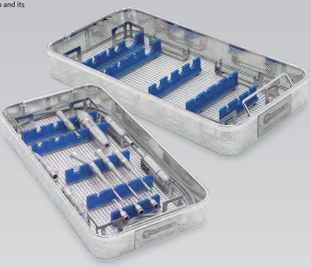 4132-4134 - Sterilizační košík s fixací pro neurochirurgické násadce