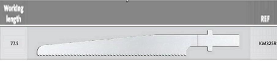 KM325R - pilové listy - D = 77.50 mm / T= 0.80 mm