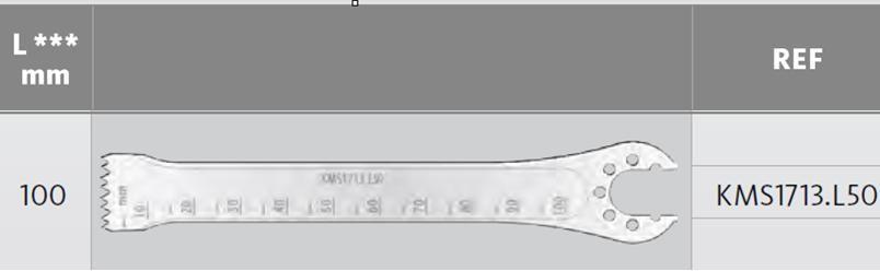 KMS1713.L50  pilové listy - D=100 mm, Š=13 mm, T=1.27 mm