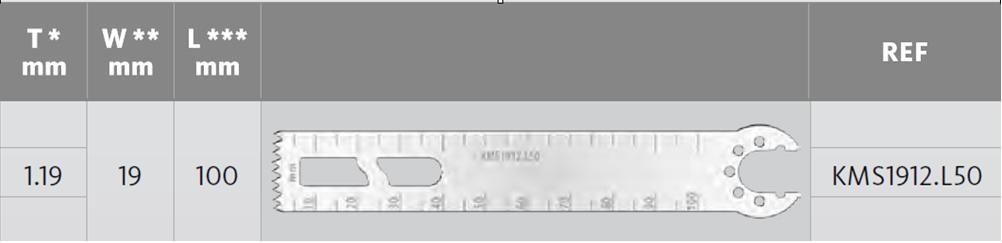 KMS1912.L50 - D=100 mm, Š=19.05 mm, T=1.19mm
