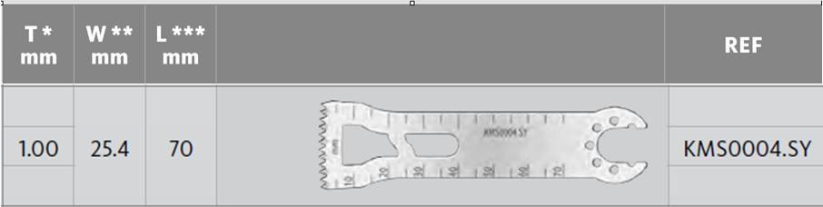 KMS0004.SY - Pilové listy - D = 70 mm, Š = 25.40 mm, T = 1.00 mm2