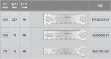 Pilové listy pro oscilační pilu, D=70 - Systémy HighTorQ
