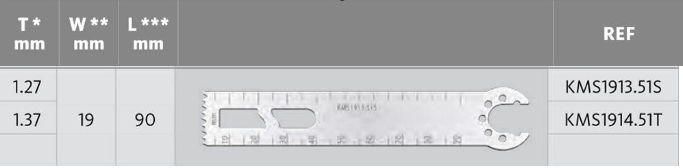 KMS1913.51S - Pilové listy - D = 90 mm / Š = 19.05 mm /  T = 1.27 mm