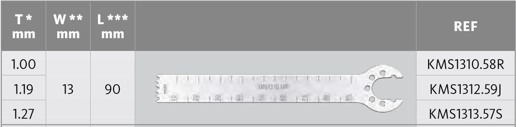 KMS1310.58R - Pilové listy -  D = 90 mm / Š = 13 mm /  T = 1.00 mm