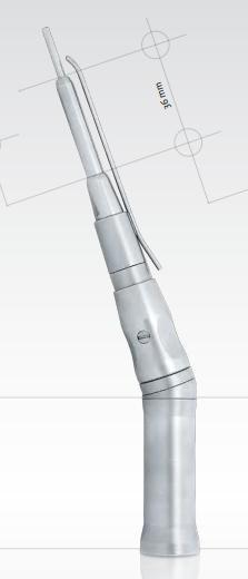 1907nou   Zahnutý vysokorychlostní chirurgický násadec 1:1, 95 mm